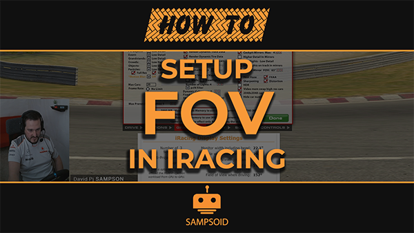 How to set Field of View in iRacing